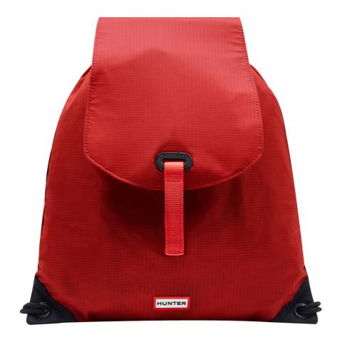 Hunter Kids Military Red Original Drawstring Backpack