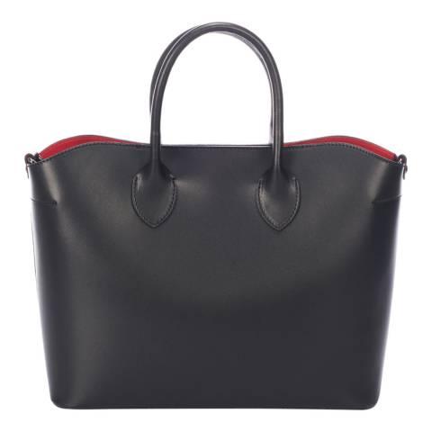 Massimo Castelli Black Leather Top Handle