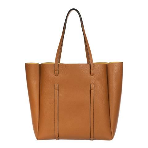 Giorgio Costa Cognac Leather Shoulder Bag