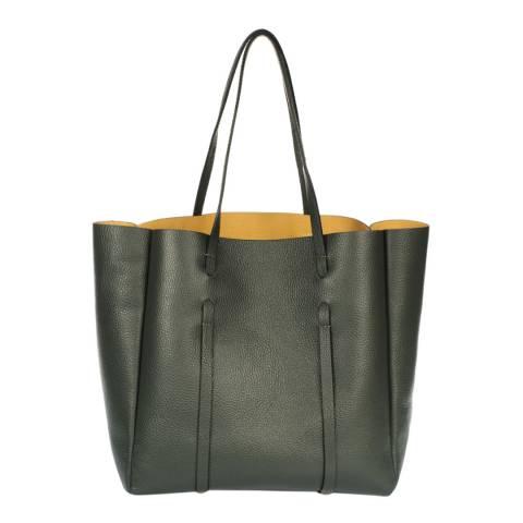 Giorgio Costa Green Leather Shoulder Bag