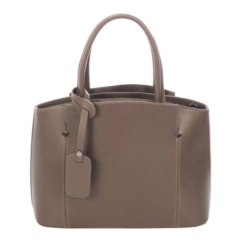 Lisa Minardi Grey Leather Top Handle Bag