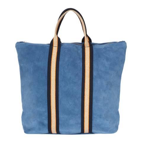 Giulia Massari Blue Leather Top Handle Bag/Backpack