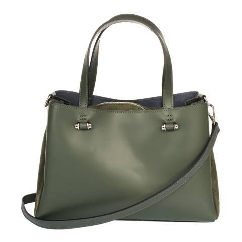 Giorgio Costa Green Leather Top Handle