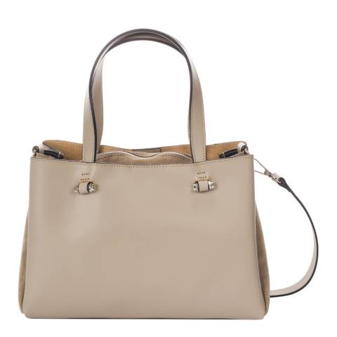 Giorgio Costa Taupe Leather Top Handle Bag