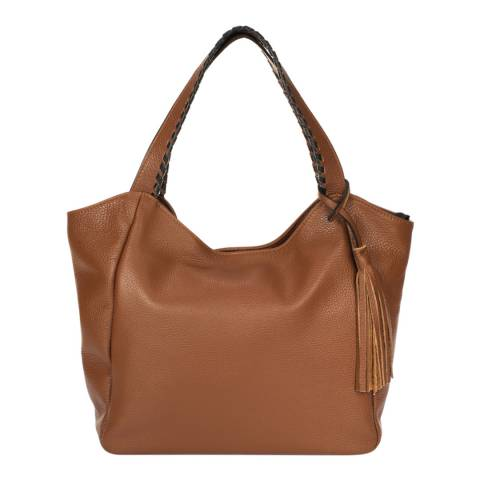 Giulia Massari Brown Leather Shoulder Bag