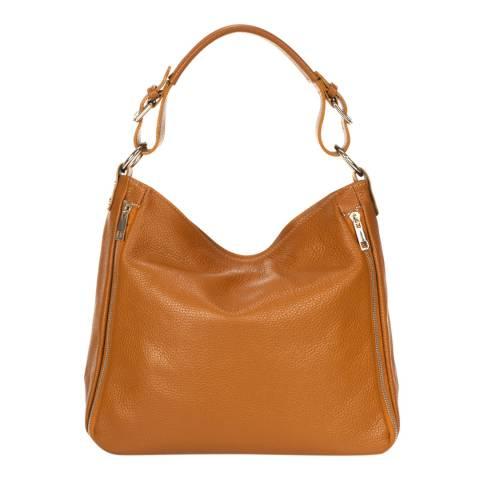 Giulia Massari Brown Leather Shoulder Bag