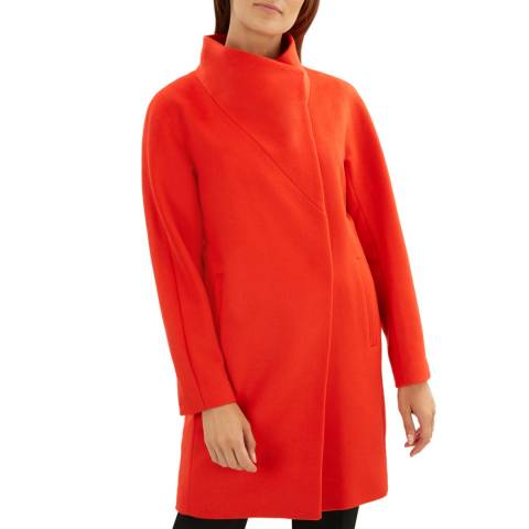 Jaeger Red Wool Cocoon Coat