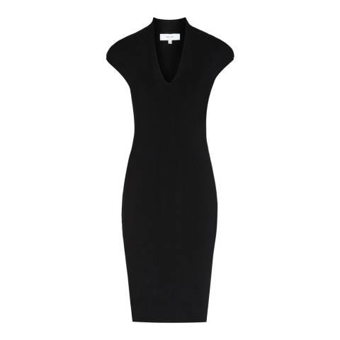 Reiss Black Jasmine Knit Dress