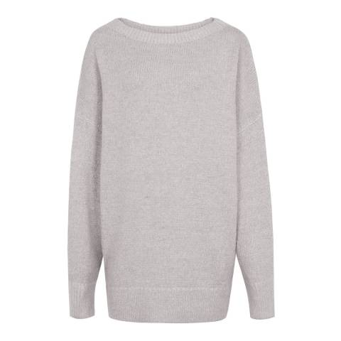 Reiss Grey Orla Oversized Jumper