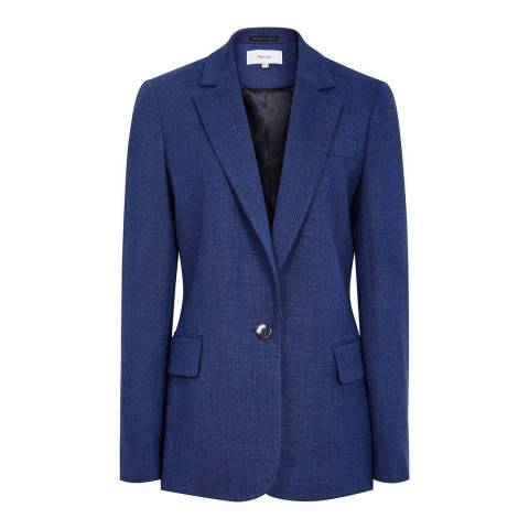 Reiss Bright Blue Malani Tailored Jacket