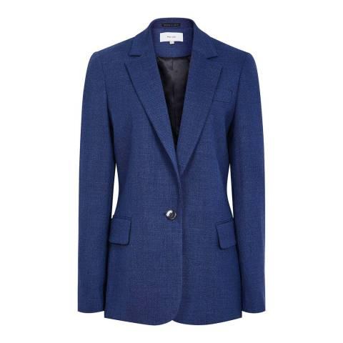 Reiss Blue Malani Textured Blazer