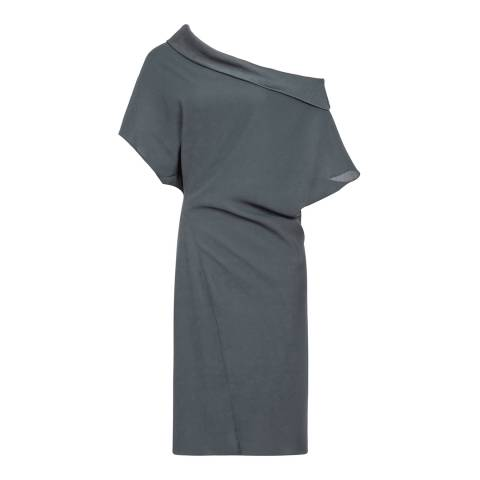 Reiss Khaki Camila Batwing Dress