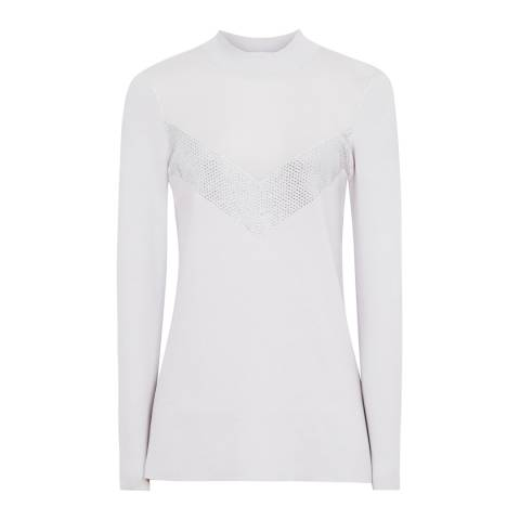 Reiss Grey Tracey Panelled Jumper