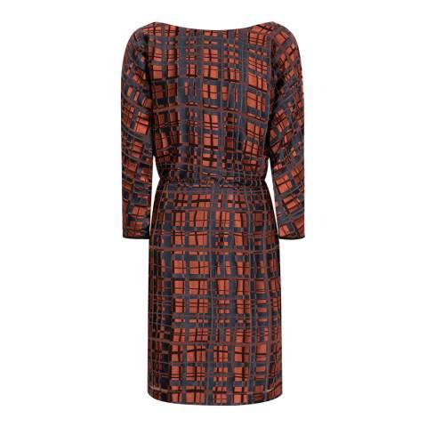 Reiss Multi Lipa Burnout Dress