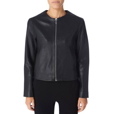 Reiss Black Hart Soft Leather Jacket