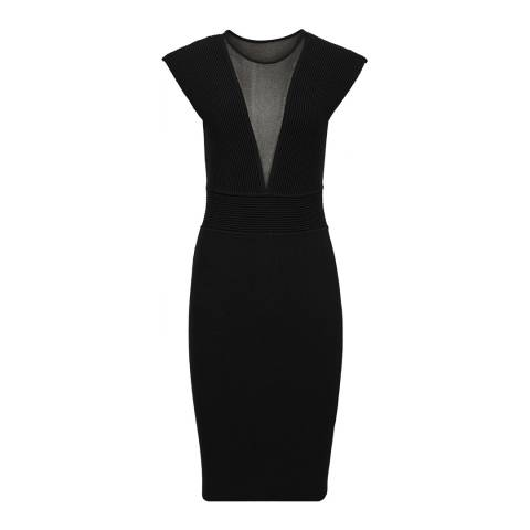 Reiss Black Holly Knit Dress