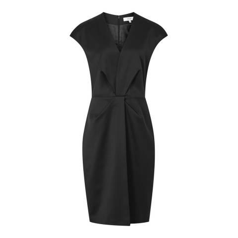 Reiss Black Harper Tailored Dress