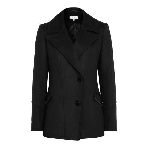 Reiss Black Lillie Short Structured Jacket