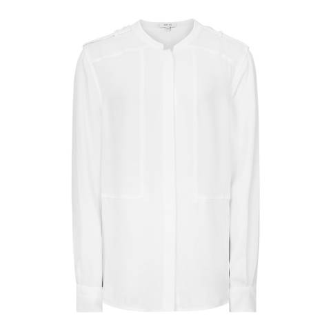 Reiss Off White Anna Blouse