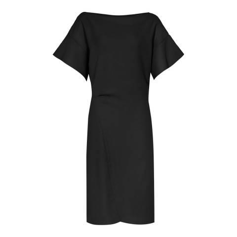 Reiss Black Manila Ruffle Dress