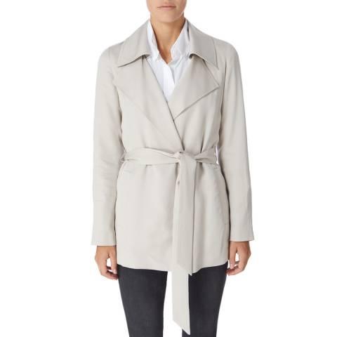 Reiss Blush Radel Cotton Short Trench Coat