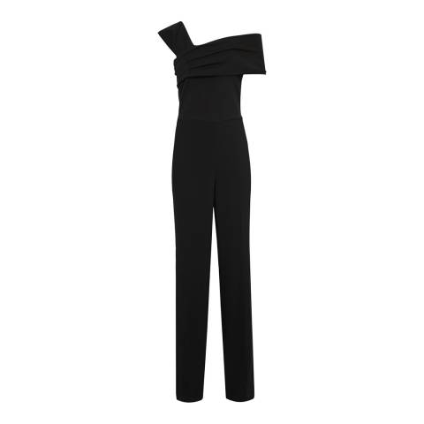 Reiss Black Perla Jumpsuit