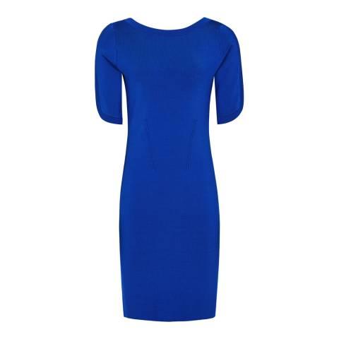 Reiss Blue Lidia Knit Dress