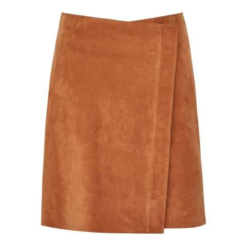 Reiss Orange Sammie Suede Skirt