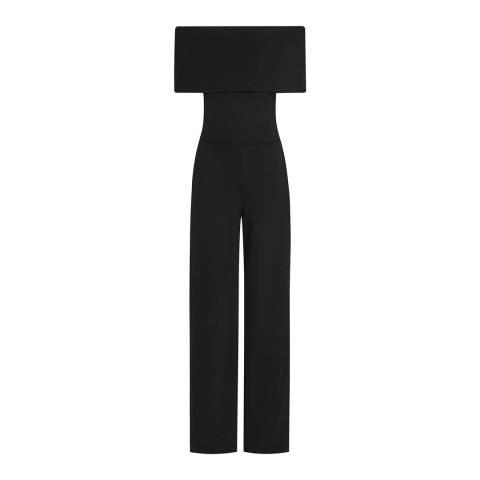 Reiss Black Raffi Jumpsuit