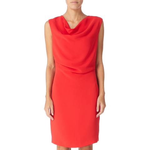 Reiss Red Marie Drape Dress