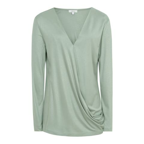 Reiss Mint Rox Wrap Top