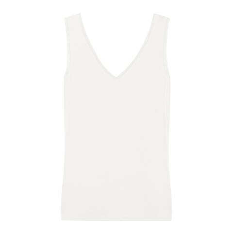 Reiss Off White Ona Jersey Vest