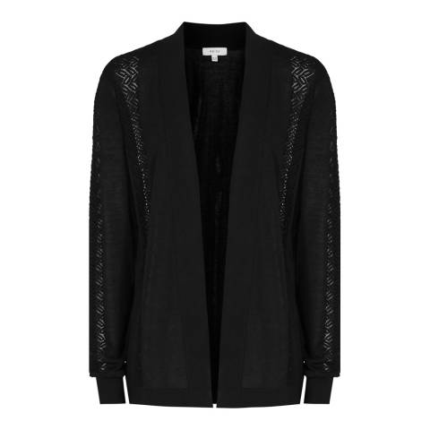 Reiss Black Natasha Lace Cardigan