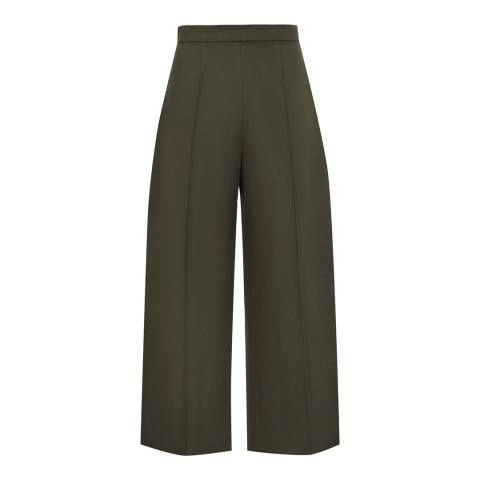 Reiss Green Nara Wide Trousers