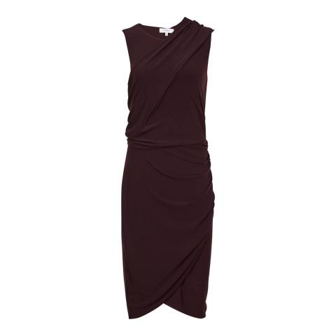 Reiss Oxblood Leane Jersey Dress