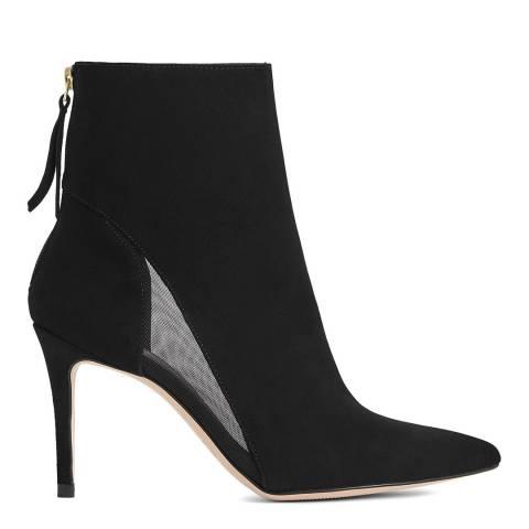 Reiss Black Kylie Mesh Insert Boot