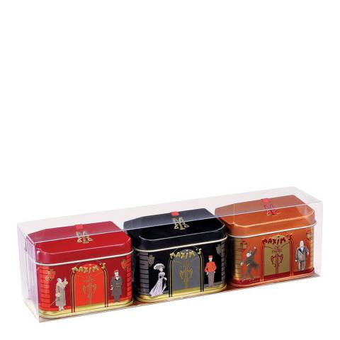 Maxim's de Paris 3 Mini House Chocolate Tins Gift Box Gift