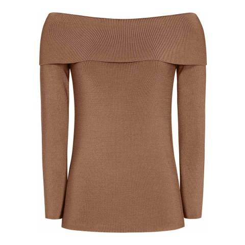 Reiss Ginger Ximena Ribbed Knit Top