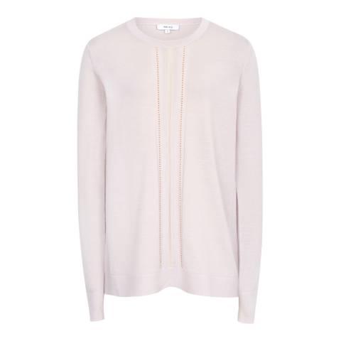 Reiss Soft Pink Serena Wool Stretch Jumper