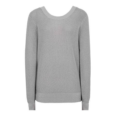 Reiss Grey Corin Open Back Jumper