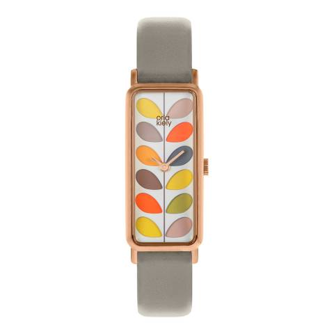 Orla Kiely Grey/Multi Quartz Slim Watch