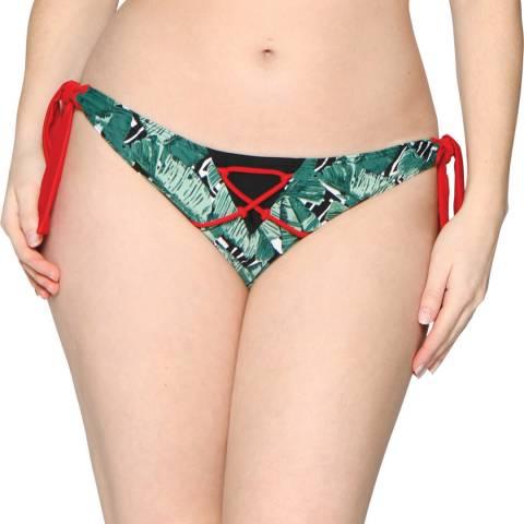 Curvy Kate Plum Paradise Palm Tie Side Brief