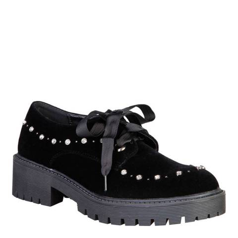 Laura Biagiotti Black Lace Up Studded Smart Shoe