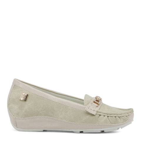 Laura Biagiotti Sand Grey Moccasin Shoe