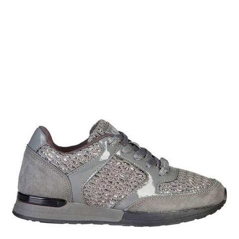 Laura Biagiotti Grey Rhinestone Sneaker