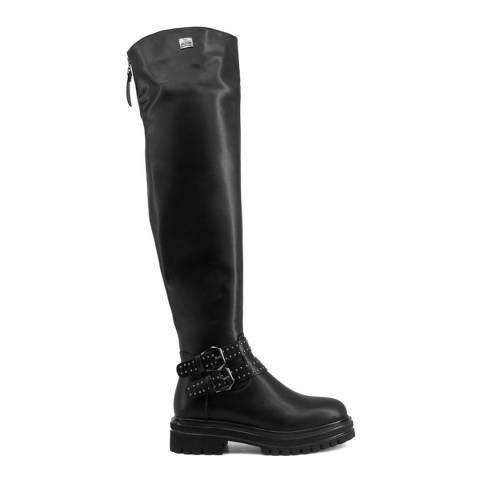 Laura Biagiotti Black Over The Knee Boot