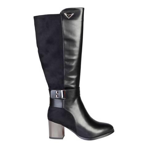 Laura Biagiotti Black Knee High Heeled Boot