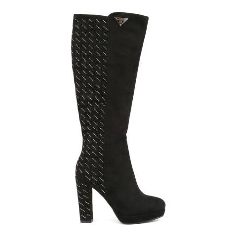 Laura Biagiotti Black Knee High Heeled Boot