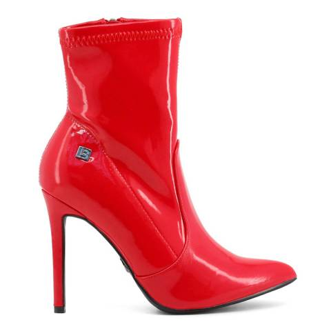 Laura Biagiotti Red Patent Ankle Boot