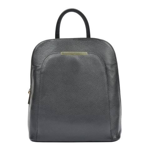 Renata Corsi Black Leather Backpack